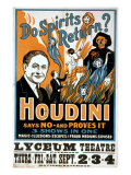 Houdini  Poster Art for Magic Show by Harry Houdini  1909