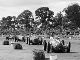 Farina leads the field in his Alfa Romeo 159 during Daily Express Trophy  Silverstone