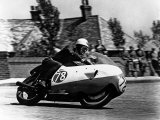 Bob Mcintyre on Gilera 500-4  1957 Isle of Man Tourist Trophy race
