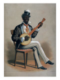 African American Man Playing the Banjo