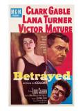 Betrayed  Lana Turner  Clark Gable  Victor Mature  1954