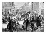 Hard Frost on the Streets of London  Engraving from 'The Illustrated London News'  1865