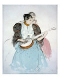 The Banjo Lesson  Painting by Mary Cassatt  1894