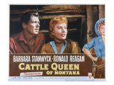 Cattle Queen of Montana  Ronald Reagan  Barbara Stanwyck  1954
