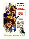 The Man Who Shot Liberty Valance  James Stewart  John Wayne  Vera Miles  1962