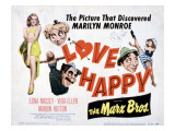 Love Happy  Marilyn Monroe  Marion Hutton  Harpo Marx  Groucho Marx  Chico Marx  1949