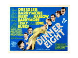 Dinner at Eight  with Marie Dressler  John Barrymore  Wallace Beery  and Lionel Barrymore  1933