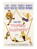 Monkey Business  Cary Grant  Ginger Rogers  Charles Coburn  Marilyn Monroe  1952