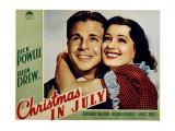 Christmas in July  Dick Powell  Ellen Drew  1940