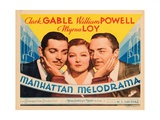 Manhattan Melodrama  Clark Gable  Myrna Loy  William Powell  1934