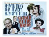 Father of the Bride  Spencer Tracy  Elizabeth Taylor  Joan Bennett  1950