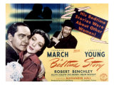 Bedtime Story  Fredric March  Loretta Young  Robert Benchley  1941