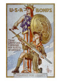World War I American War Bonds Campaign Poster  1918