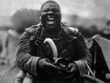 World War I  Soldier of the African-American 3rd Battalion  366th Infantry with His Gas Mask