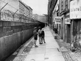 The Berlin Wall  Separating West Berlin and East Berlin  Five Years after Being Built  1966