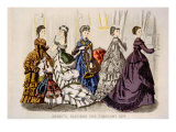 Women's Fashions from 'Godey's Lady's Book' for February  1870