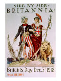 World War I Victory Poster Celebrating the American-British Relationship  1918