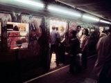 1970s America  Graffiti on a Subway Car on the Lexington Avenue Line New York City  New York  1972