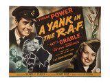 Yank in the RAF  Tyrone Power  Betty Grable  John Sutton  Reginald Gardiner  1941