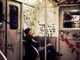 1970s America  Graffiti on a Subway Car  New York City  New York  1972
