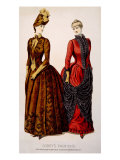 Women's Fashions from Godey's Lady's Book  Early 1880s