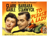 To Please a Lady  Barbara Stanwyck  Clark Gable  1950