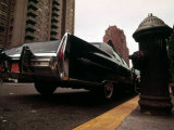 1970s America  a Cadillac Fleetwood Parked Illegally in a Fire Lane Manhattan  New York City  1973