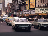 1970s America  42nd Street Between 7th and 8th Avenues Manhattan  New York City  1972