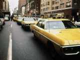 1970s America  Yellow Taxi Cabs on Lexington Avenue at 61st Street Manhattan  New York City  1972