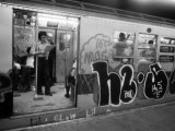 1970s America  Graffiti on a Subway Car on the Lexington Avenue Line New York City  New York  1972