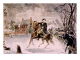 The Battle of Trenton  General George Washington on Horseback  December 25  1776