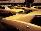 1970s America  Yellow Taxi Cabs on 5th Avenue Near 48th Street Manhattan  New York City  1972