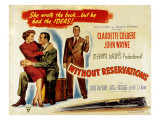 Without Reservations  Claudette Colbert  John Wayne  Don Defore  1946