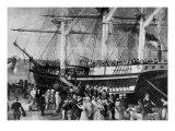 Irish Immigrants Disembarking at New York  1855