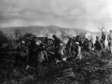 World War I  American 351st Field Artillery  92nd Division  Firing in Maneuvers at Maidieres