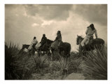 Apaches before the Storm- Four Apache on Horseback on Horseback under Storm Clouds  1906