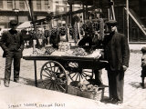 Little Italy - Street Vendor with Wares Displayed on a Handcart During a Festival  New York  1908