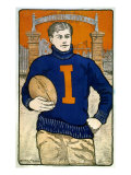 Portrait of a University of Illinois Player  Bristow Adams  Artist  1902