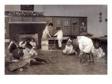 Kindergarten Children in Horace Mann School Working on Doll Houses  Tulsa  Oklahoma  1917