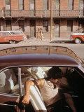 1970s America  a Chicano Teenager in the Barrio Area of El Paso  Texas  1973