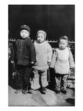 Chinese New Year  Three Children Posed  New Year's Day  Chinatown  New York City  1909
