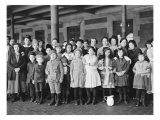 Immigrant Children  Ellis Island  New York  1908
