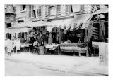 New York City  Italian Wares on Display in Front of Shops in Little Italy  Early 1900s