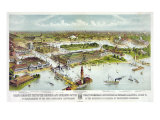 World&#39;s Columbian Exposition  Chicago: Grand Birds-Eye View of the Grounds and Buildings  1892