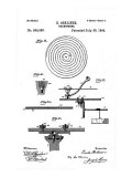 Early Recording Device: the Berliner Gramophone Detail of Turntable  Patent  1896