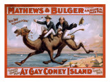 1898 Poster for the Mathews and Bulger Comedy Team's Play  at Gay Coney Island
