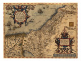 1570 Map of Palestine  from Abraham Ortelius' Atlas