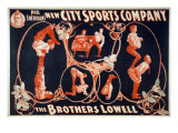 Vaudeville Troupes Often Included Acrobatic Acts  Such as That of the Brothers Lowell  1899