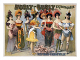 Hurly-Burly Extravaganza and Refined Vaudeville with Chorus Girls in Fanciful Flower Costumes 1899