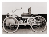 1896 Ford  a Gasoline-Powered Motor Car  Which its Maker  Henry Ford  Called 'Quadricycle